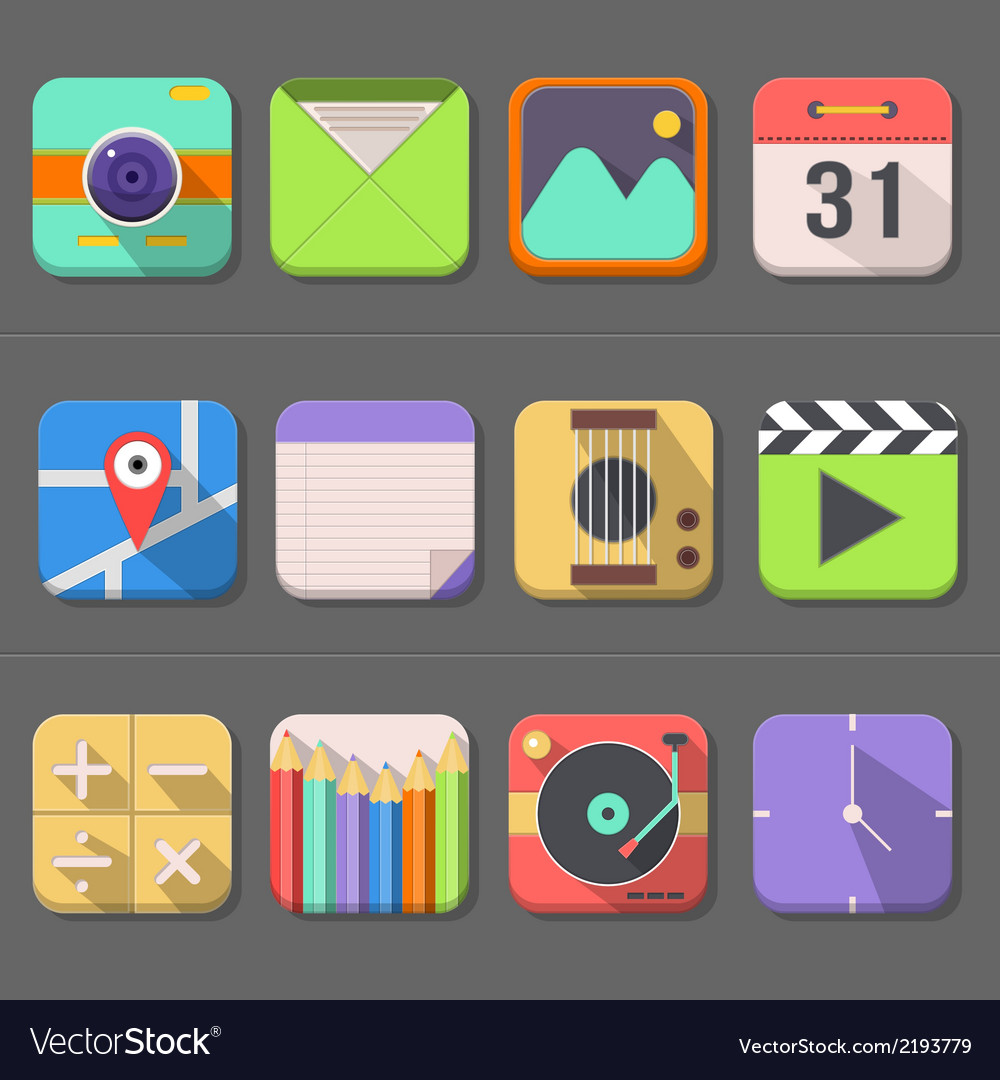 Mobile phone icon set vector   Price: 1 Credit (USD $1)