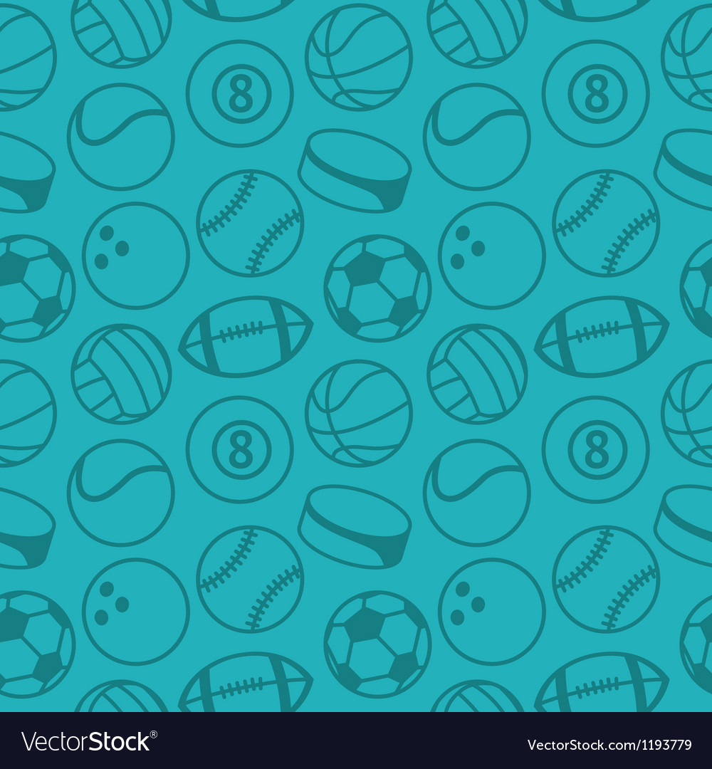 Seamless pattern with sport balls vector | Price: 1 Credit (USD $1)