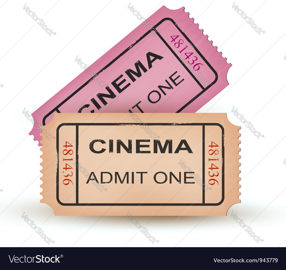 Two cinema tickets vector | Price: 3 Credit (USD $3)
