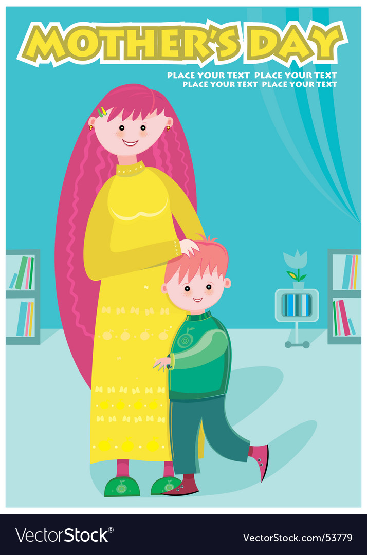 Young mother vector | Price: 1 Credit (USD $1)