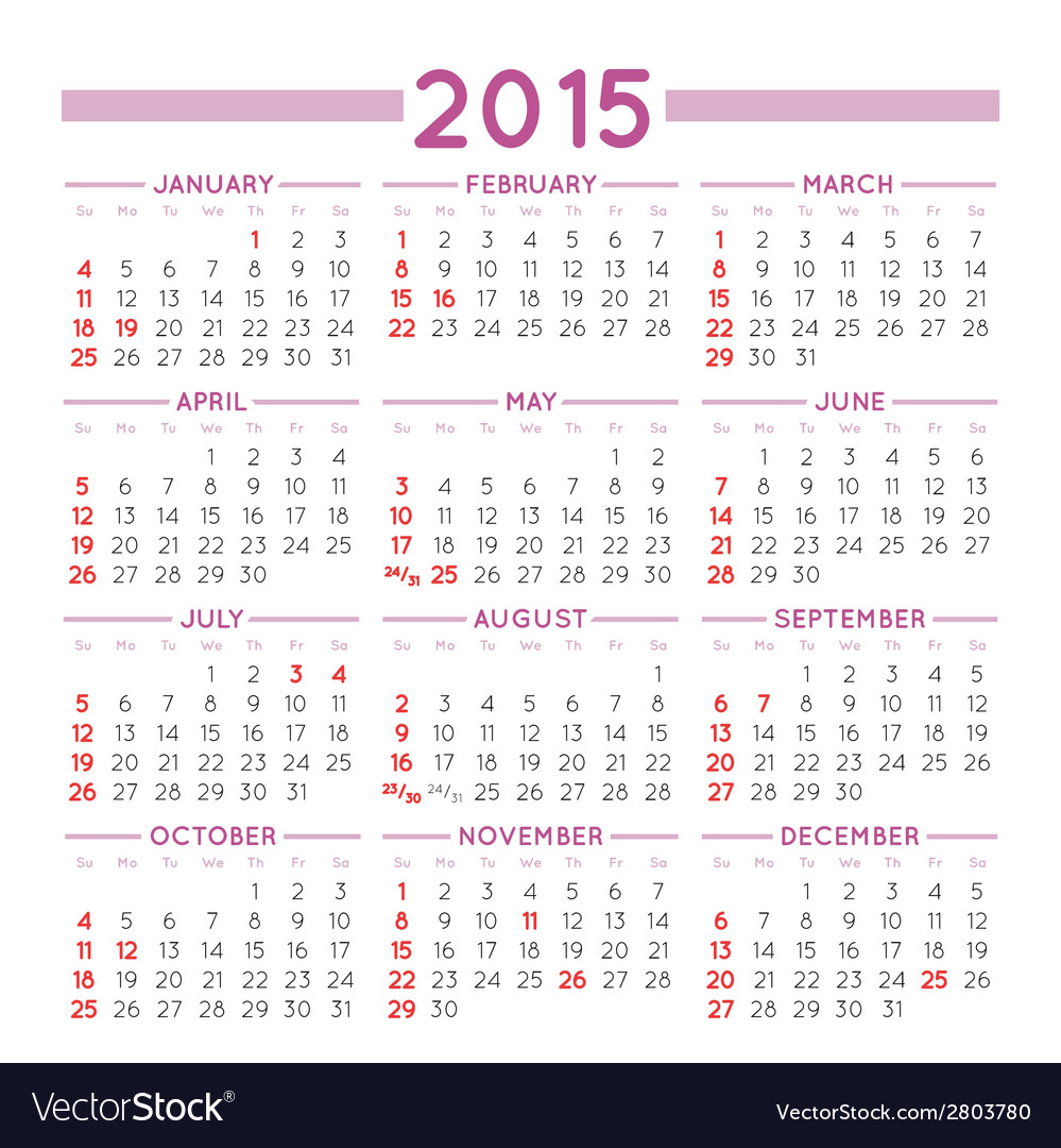 2015 squared calendar usa vector | Price: 1 Credit (USD $1)