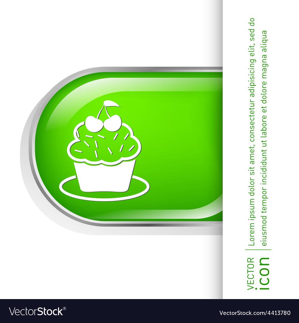 Birthday cake icon vector   Price: 1 Credit (USD $1)