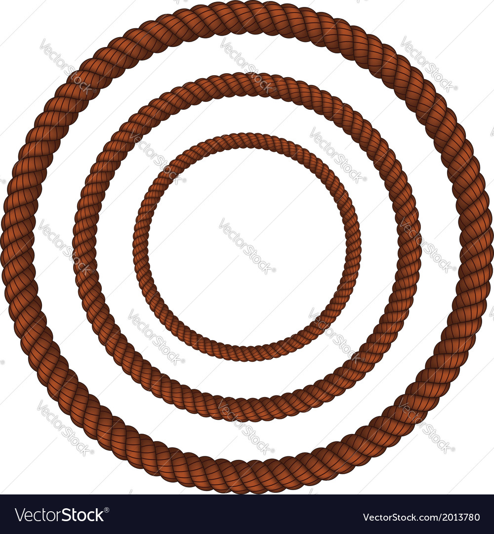 Brown rope in three sizes vector | Price: 1 Credit (USD $1)