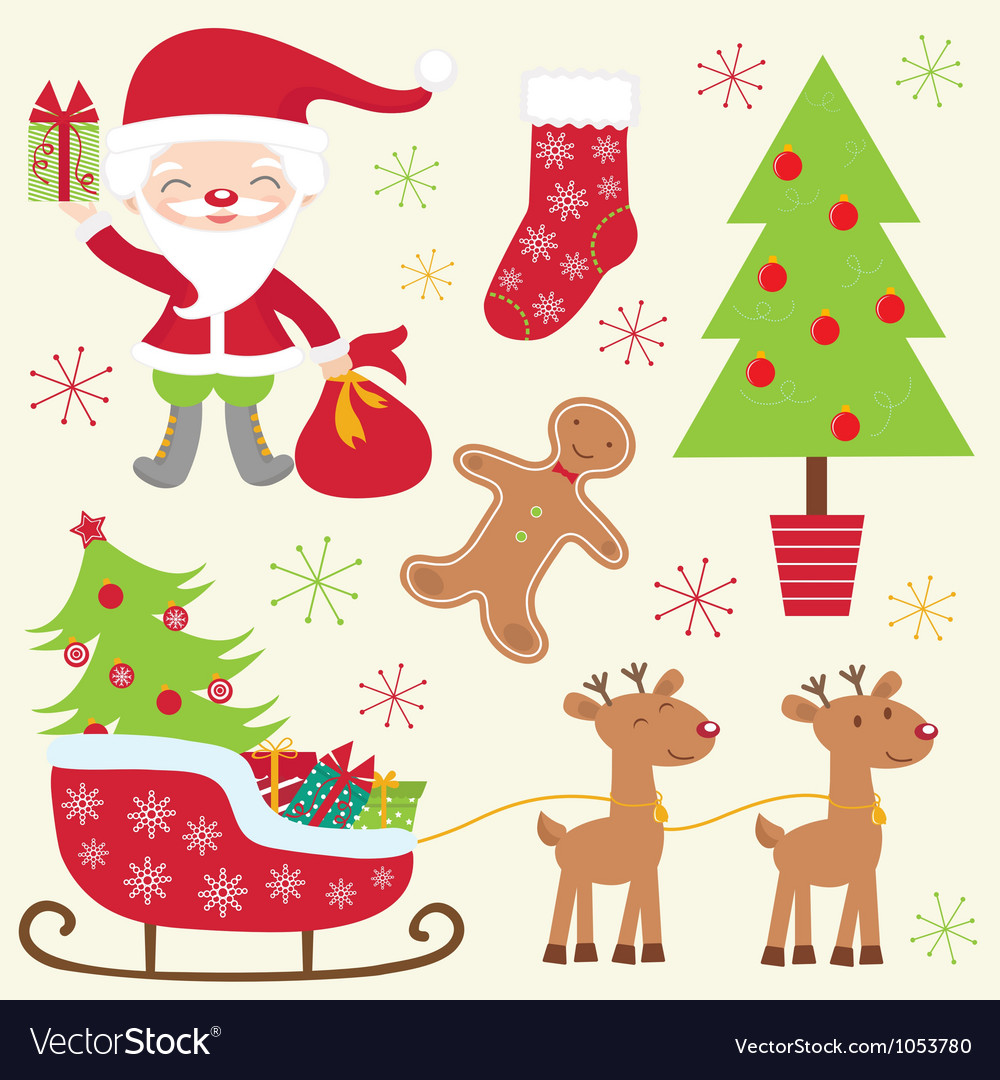 Cute christmas collection vector | Price: 1 Credit (USD $1)