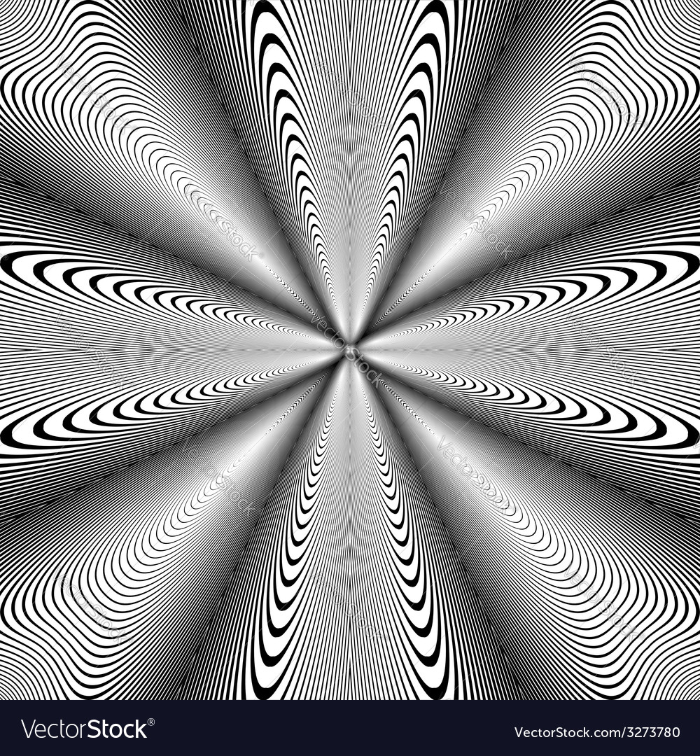 Design monochrome circle movement background vector | Price: 1 Credit (USD $1)