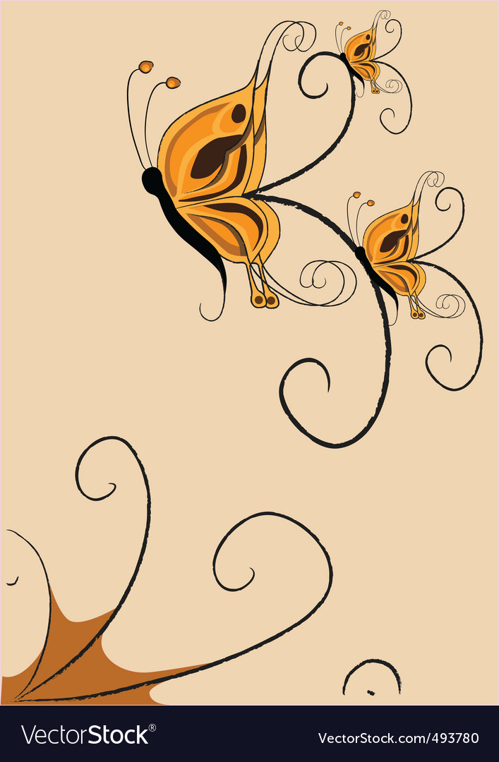 Funky butterflies vector | Price: 1 Credit (USD $1)