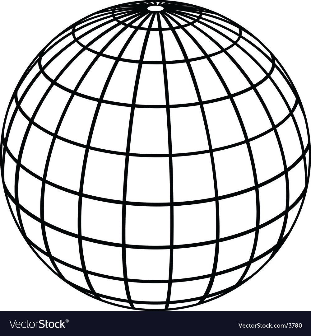 Globe meridians vector | Price: 1 Credit (USD $1)