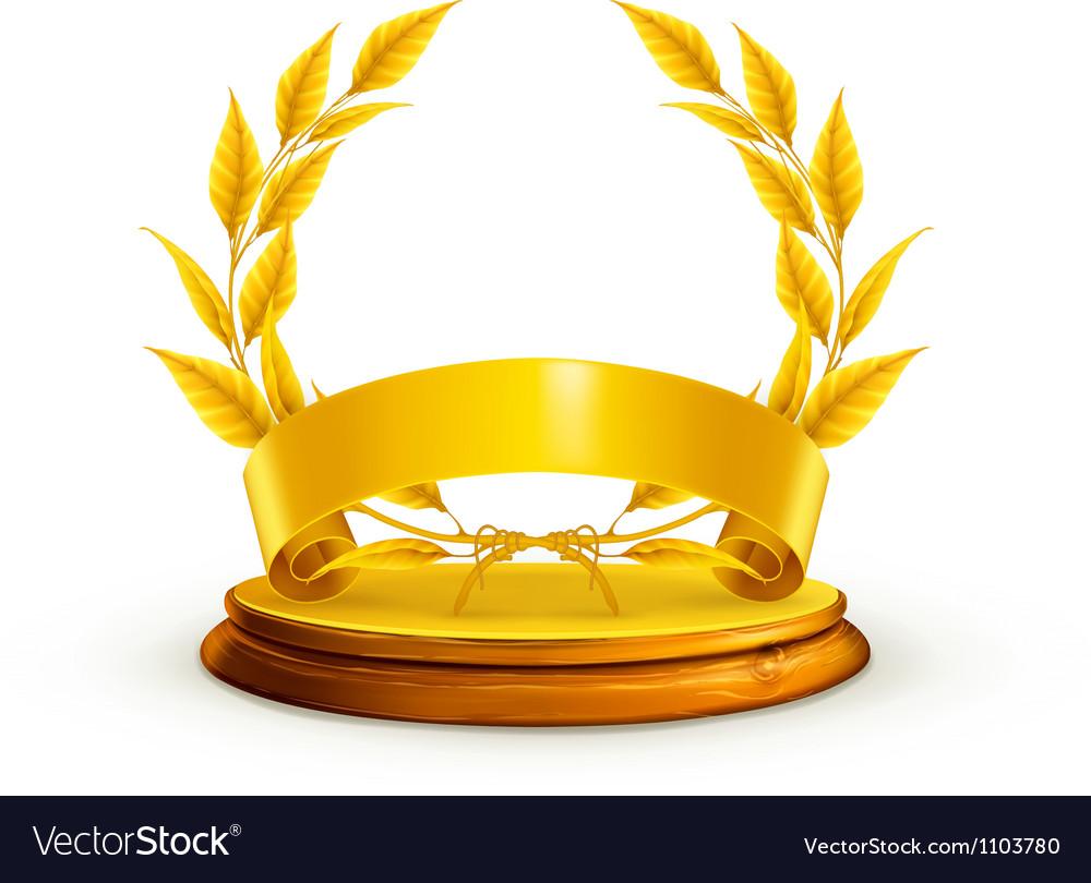 Golden wreath vector   Price: 1 Credit (USD $1)