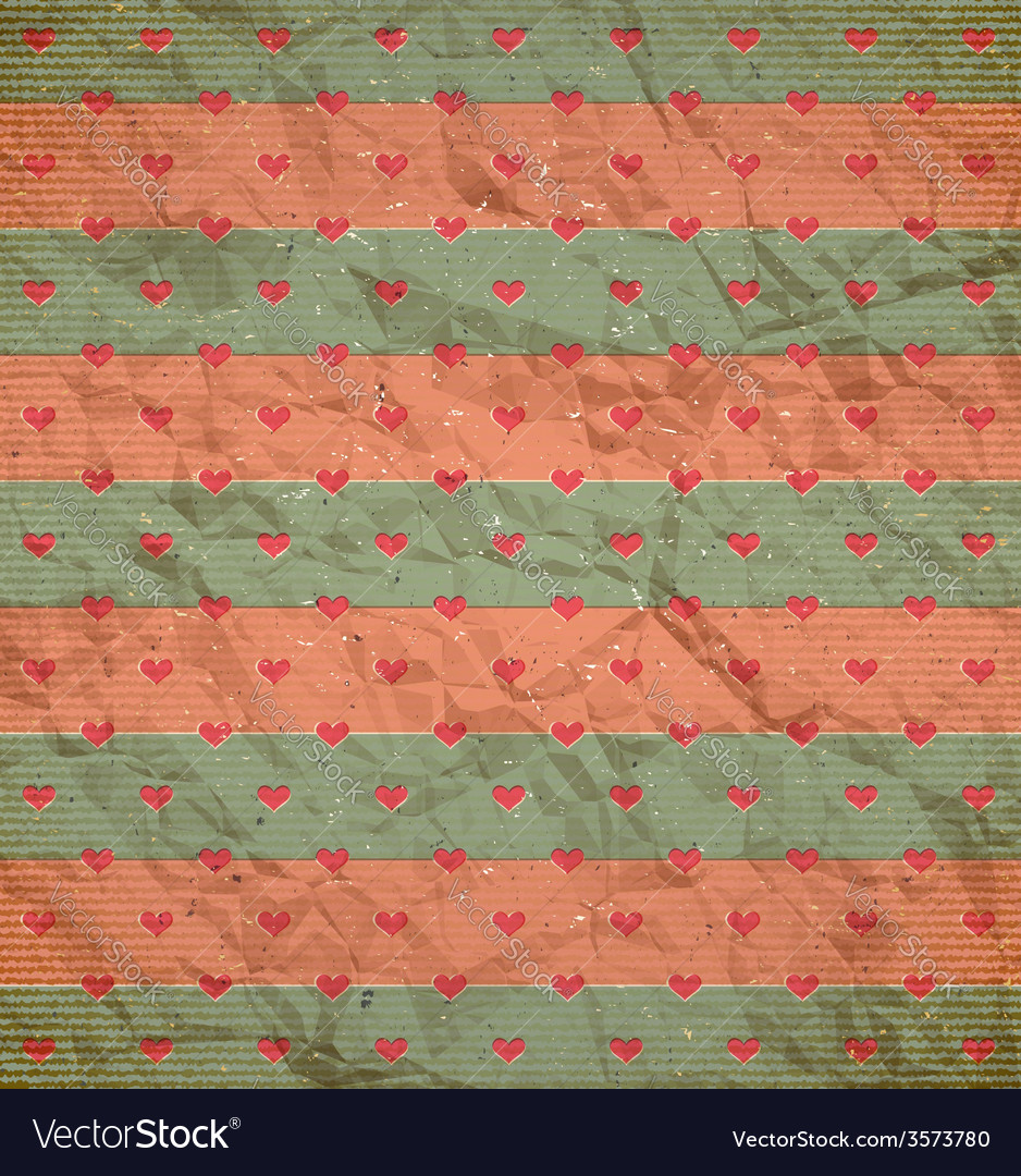 Hearts pattern on the cardboard vector | Price: 1 Credit (USD $1)