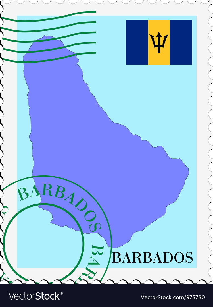 Mail to-from barbados vector | Price: 1 Credit (USD $1)