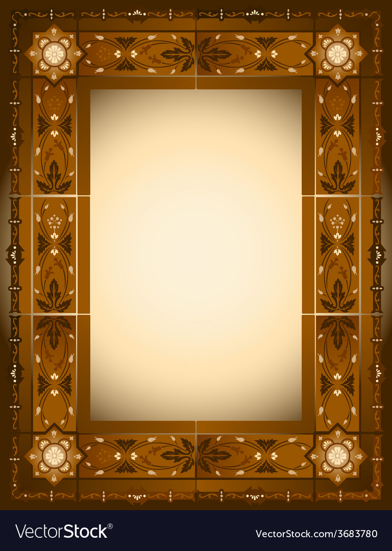Ornamented frame vector | Price: 1 Credit (USD $1)