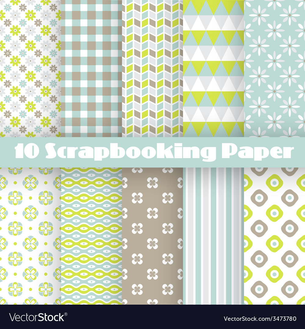 Pattern papers for scrapbook vector | Price: 1 Credit (USD $1)
