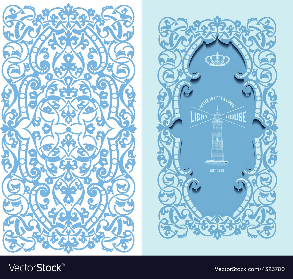 Retro frame and design element organized vector | Price: 1 Credit (USD $1)