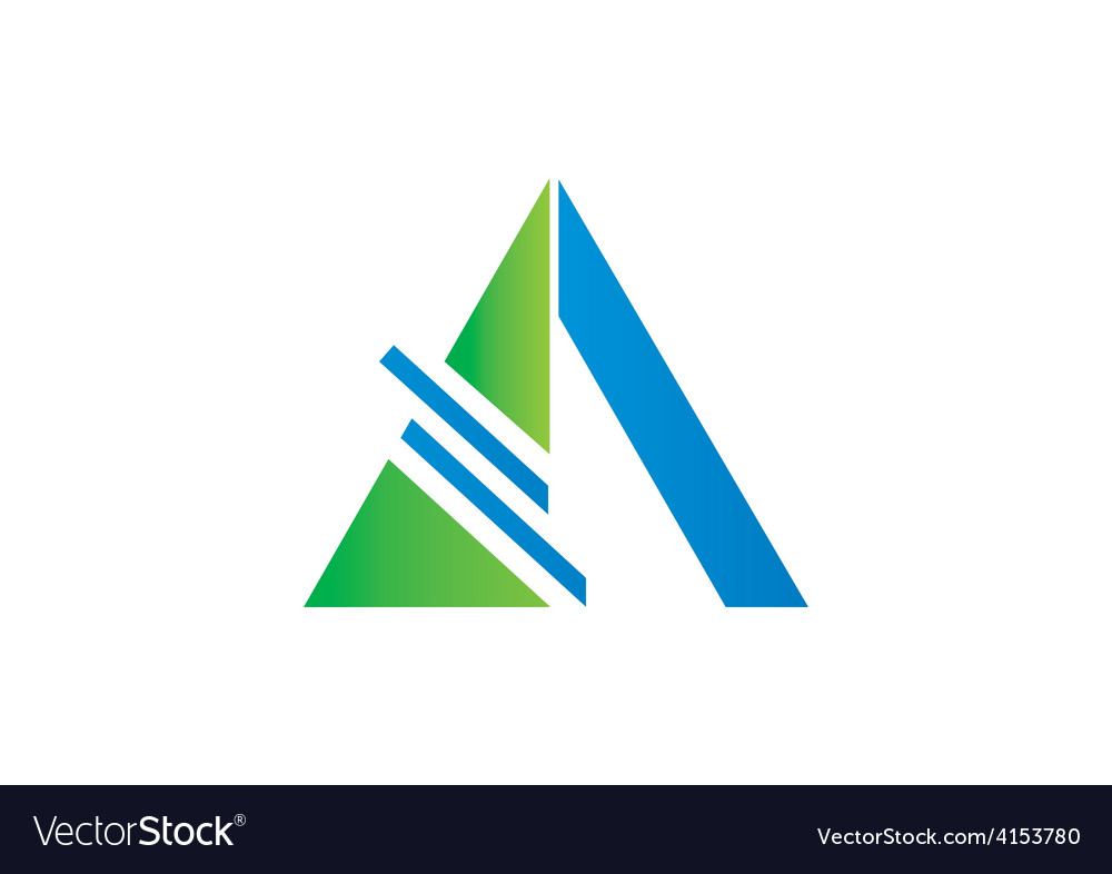 Triangle construction abstract logo vector | Price: 1 Credit (USD $1)
