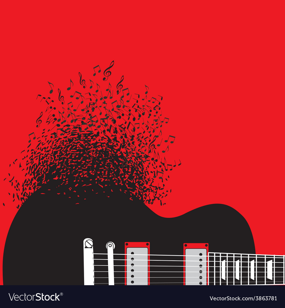 Abstract guitar music background vector | Price: 1 Credit (USD $1)