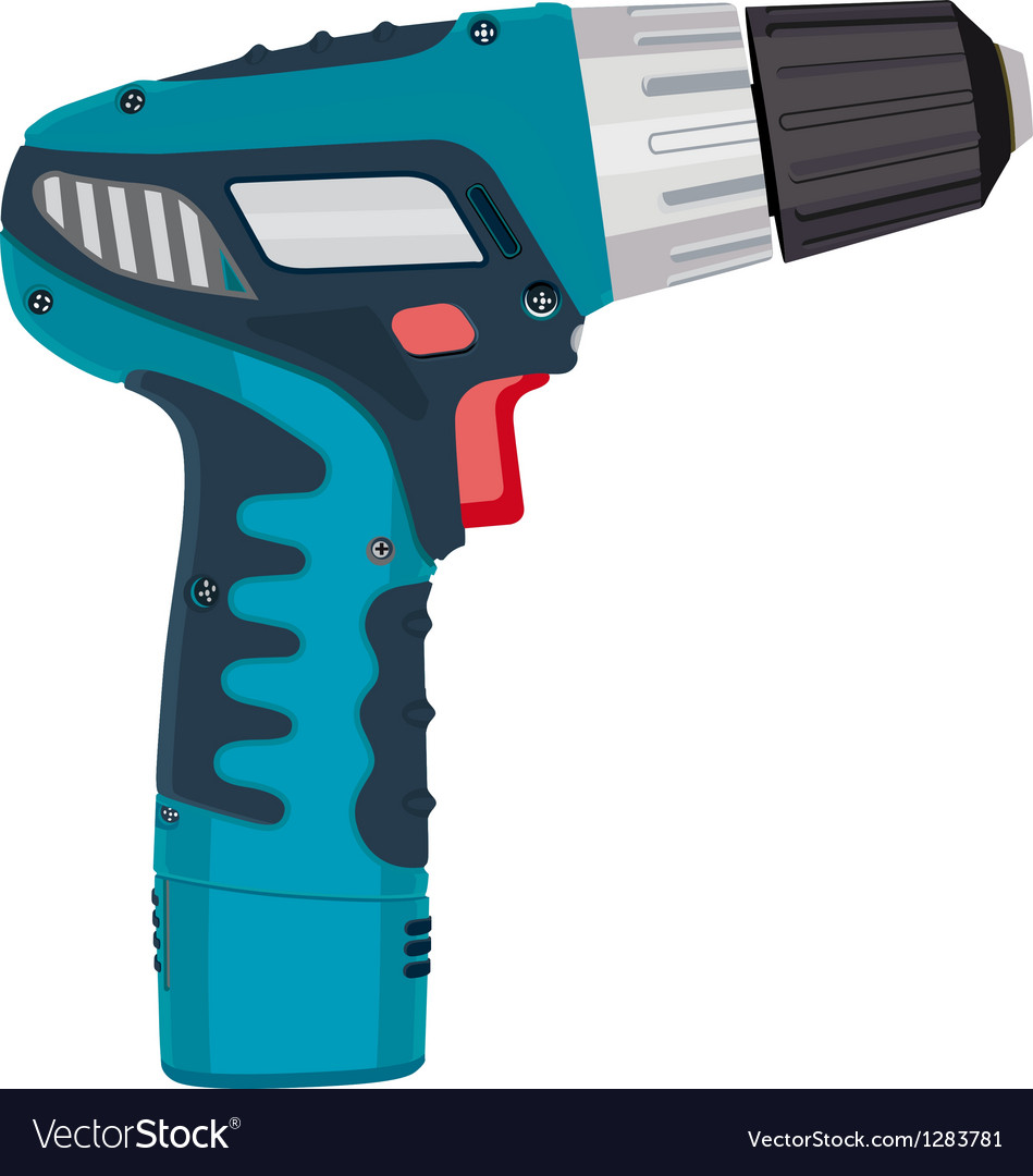 Cordless drill electric work tool vector | Price: 1 Credit (USD $1)