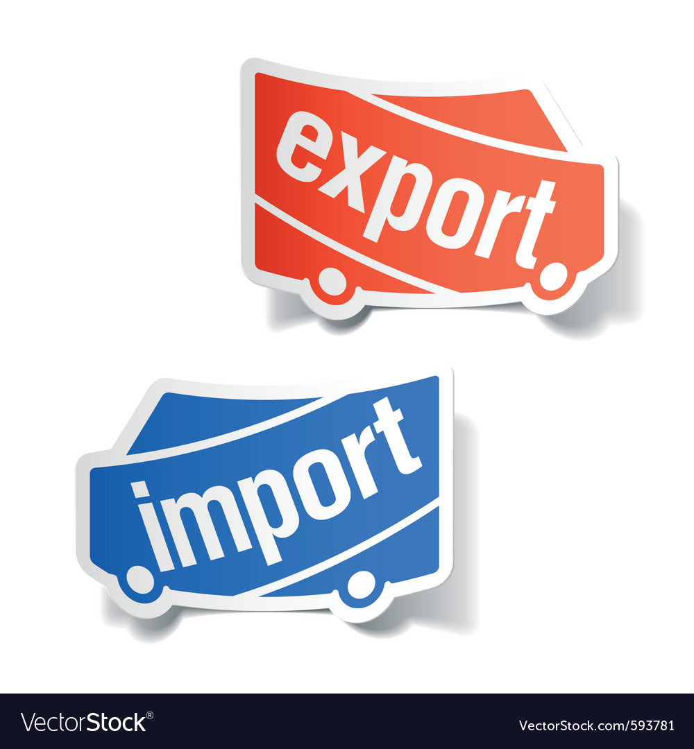 Export and import labels vector | Price: 1 Credit (USD $1)