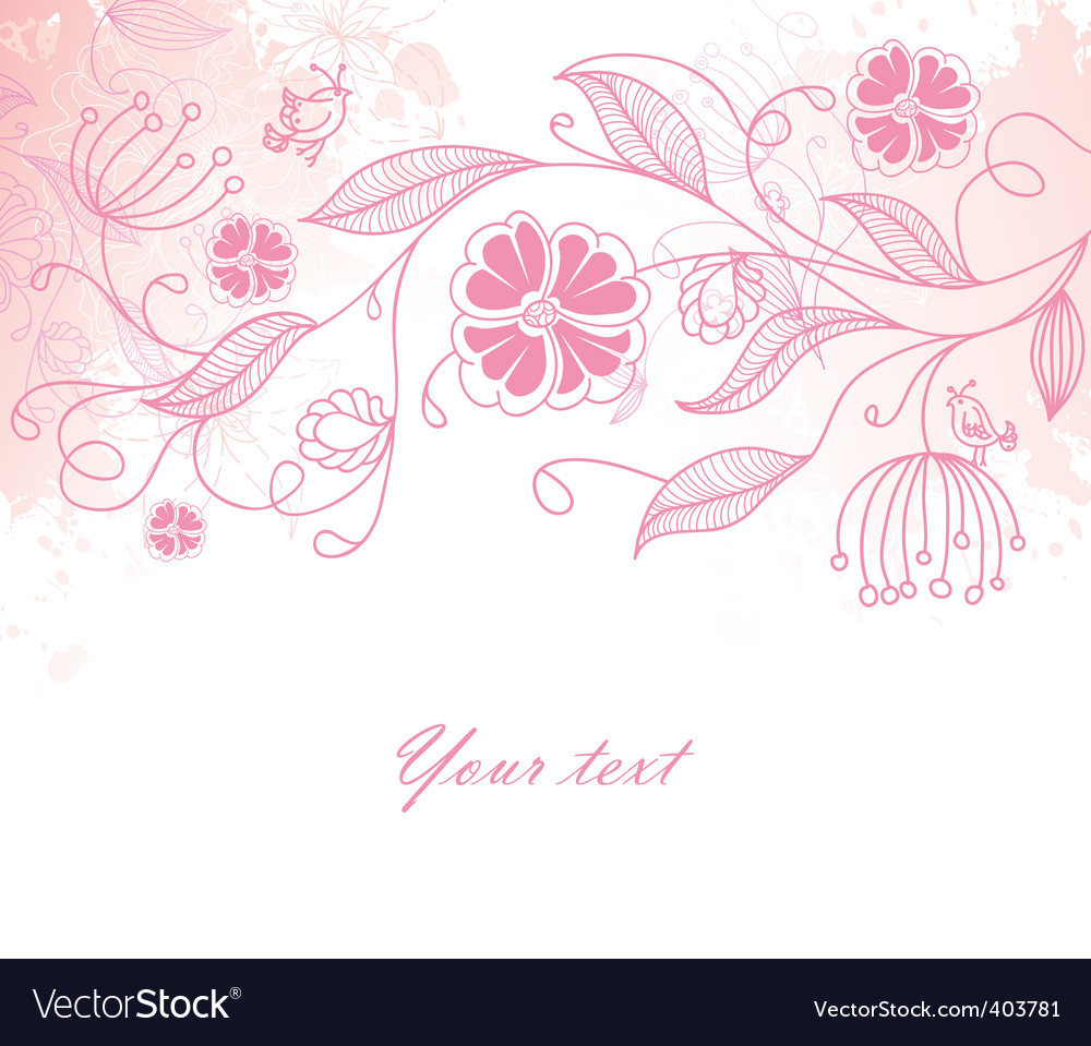 Floral back blob vector | Price: 1 Credit (USD $1)