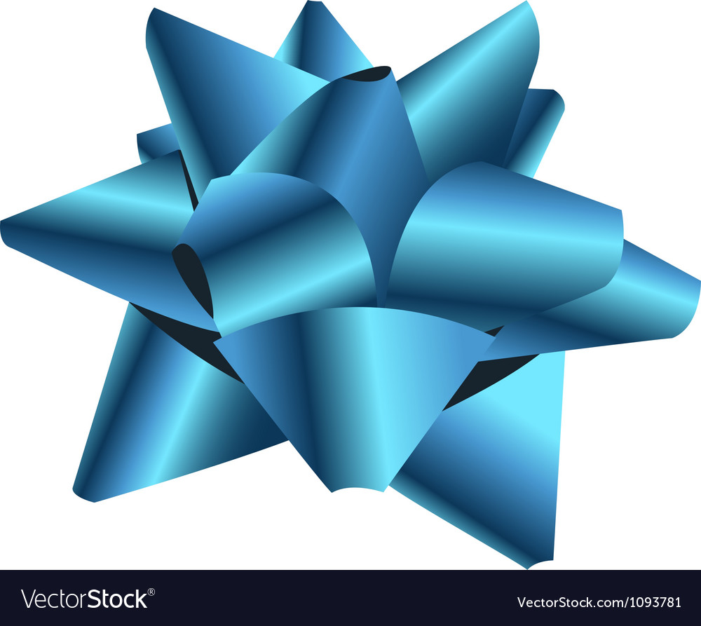 Gift bow isolated on white vector | Price: 1 Credit (USD $1)