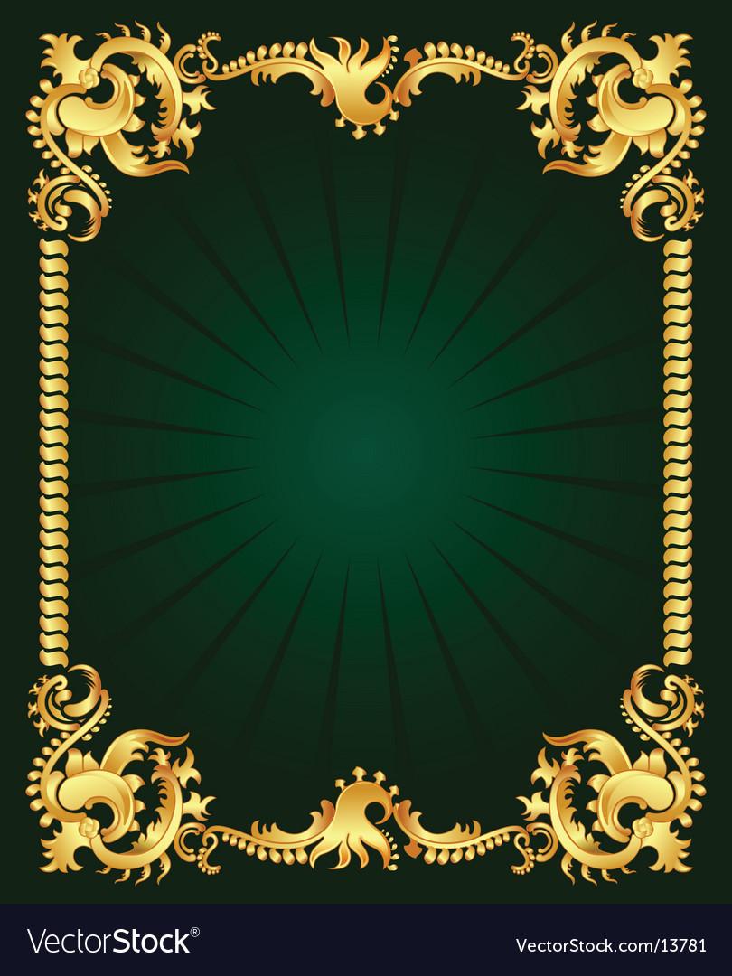 Gold ornament vector | Price: 1 Credit (USD $1)
