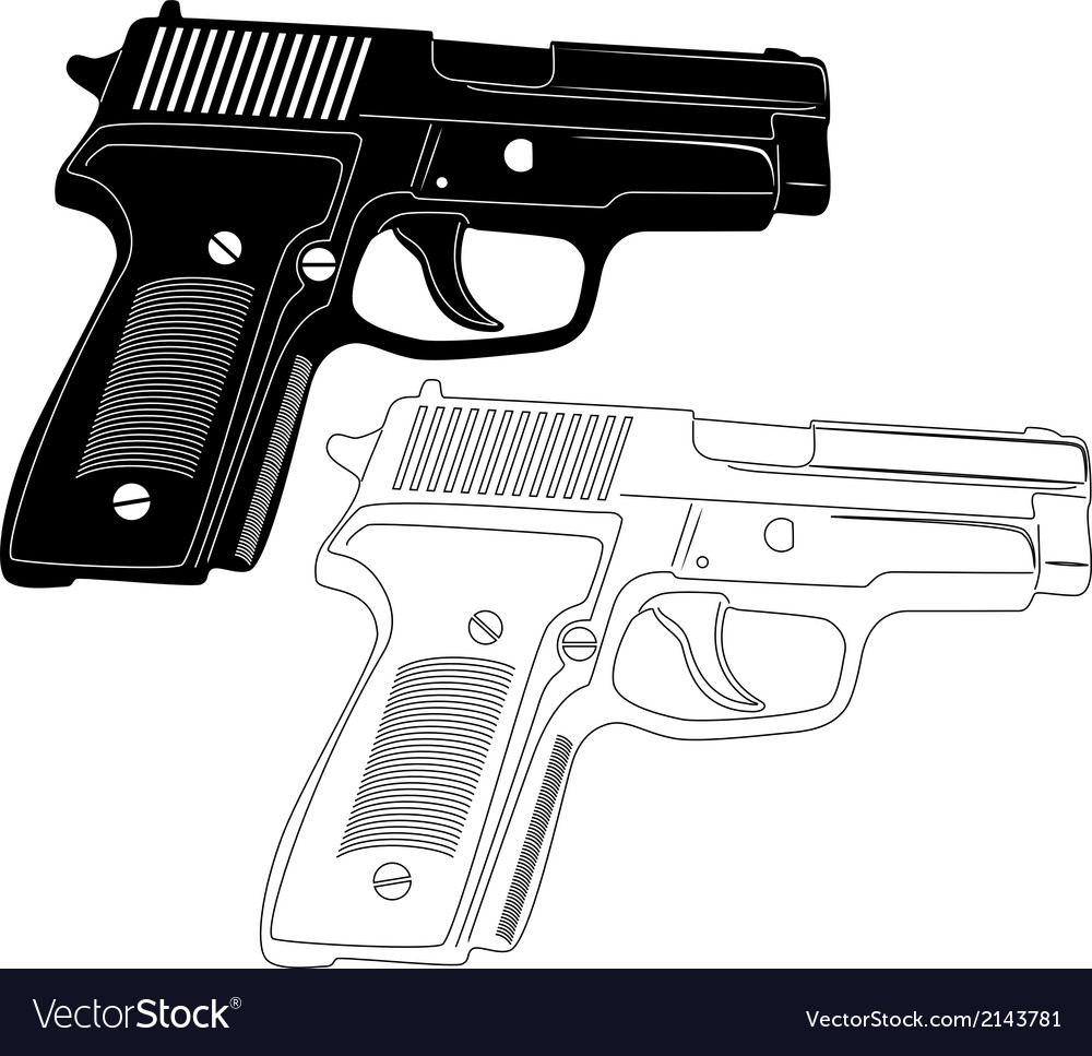 Gun silhouette vector | Price: 1 Credit (USD $1)