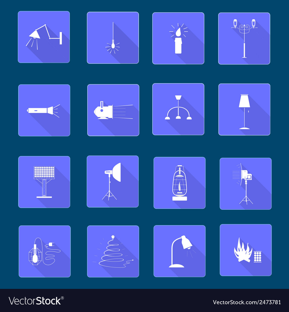 Icons light vector | Price: 1 Credit (USD $1)