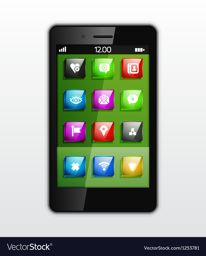 Mobile phone applications concept vector | Price: 1 Credit (USD $1)