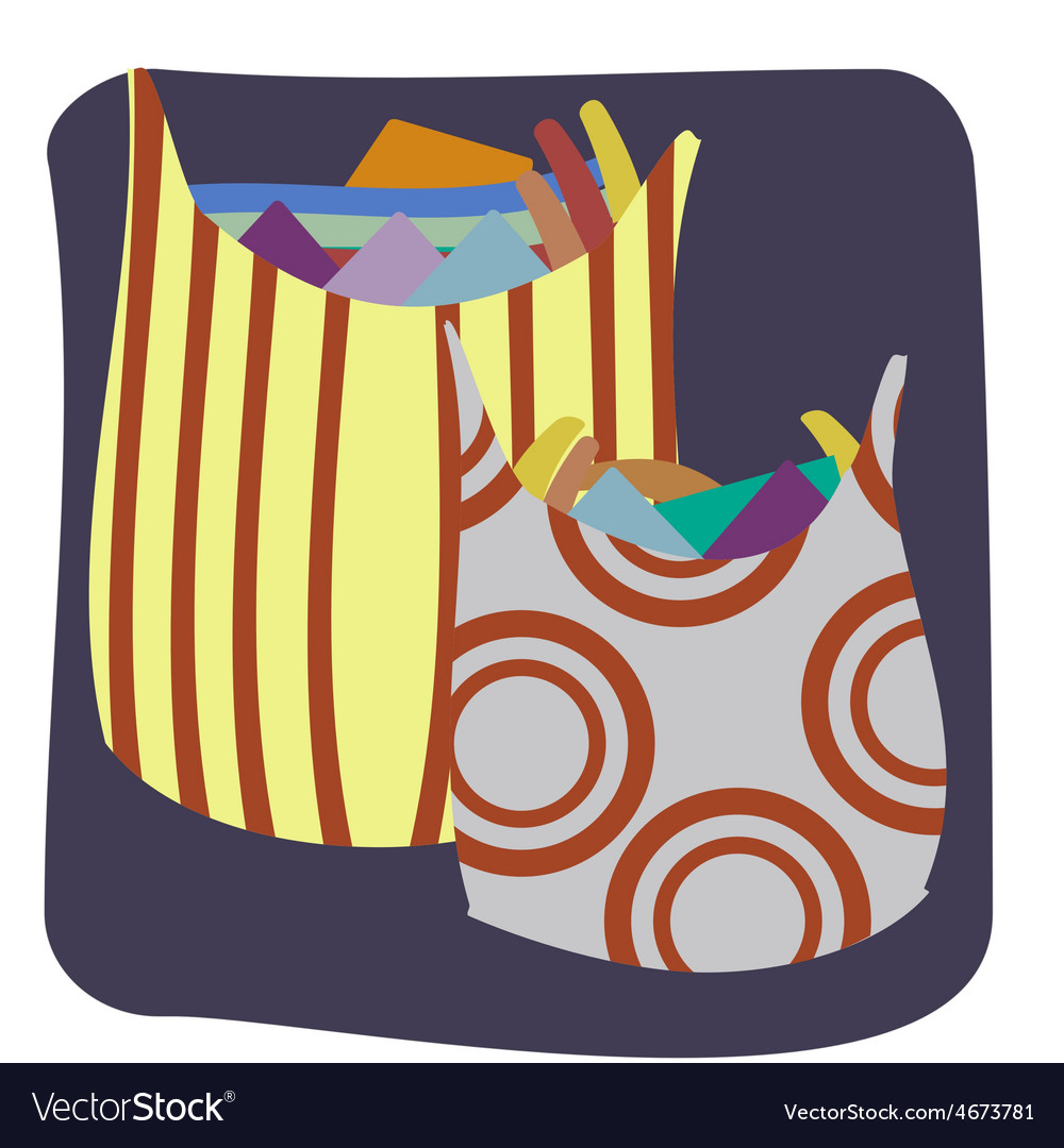 Plastic shopping bags full of clothes vector   Price: 1 Credit (USD $1)