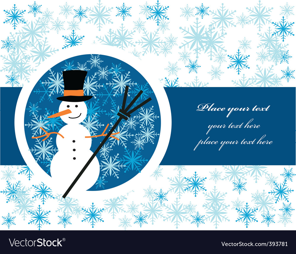 Snowman label vector | Price: 1 Credit (USD $1)