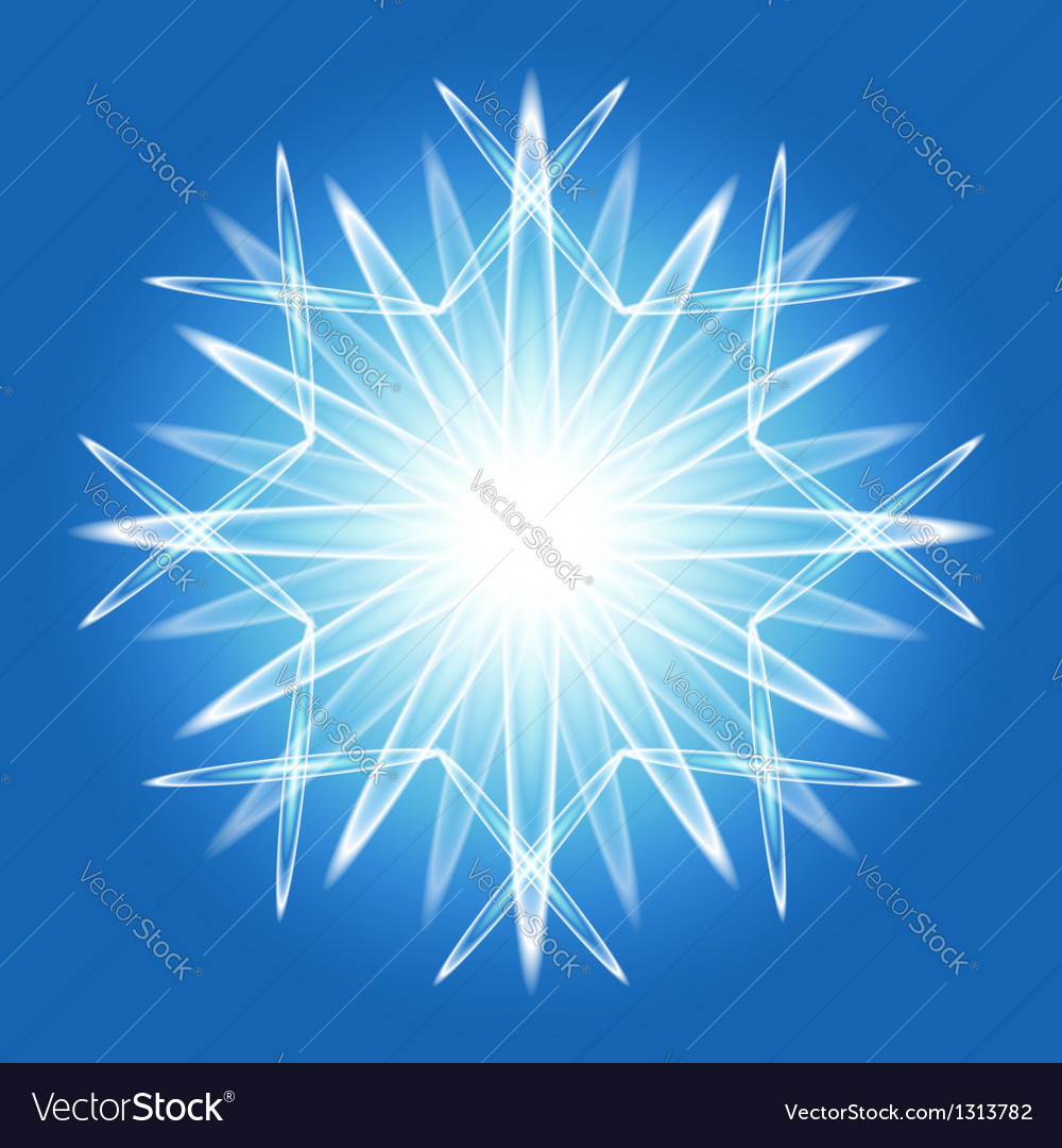 Abstract snowflake over blue vector | Price:  Credit (USD $)
