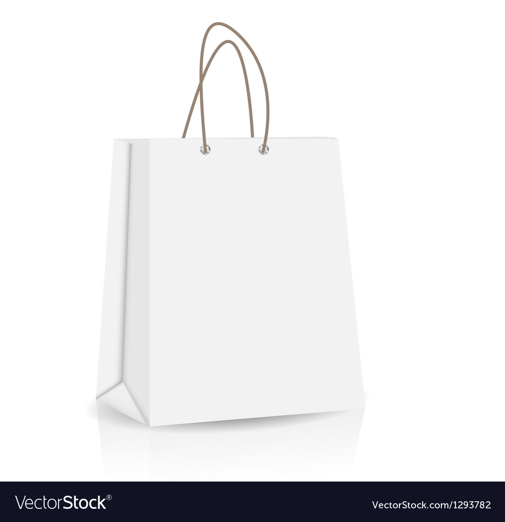 Empty shopping bag for advertising and branding vector | Price: 1 Credit (USD $1)