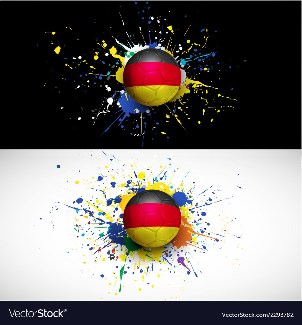 Germany flag with soccer ball dash on colorful vector | Price: 1 Credit (USD $1)