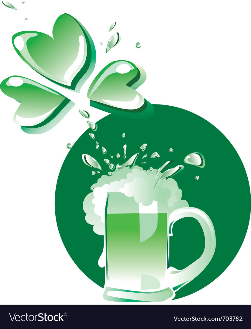 Green beer on patrick day vector   Price: 1 Credit (USD $1)