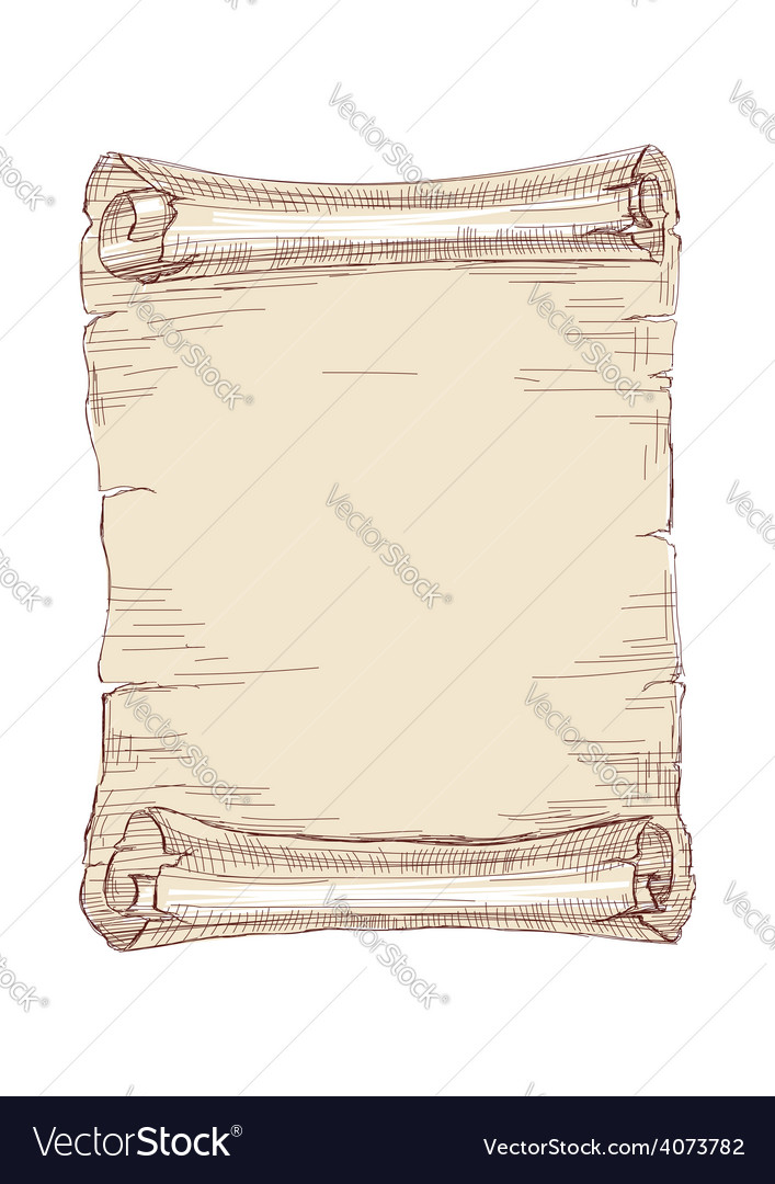 Hand drawn old scroll vector | Price: 1 Credit (USD $1)