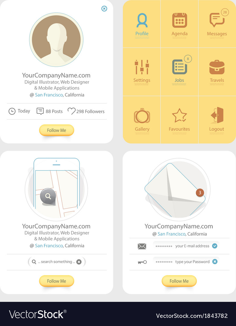 Infographics messaging vector | Price: 1 Credit (USD $1)