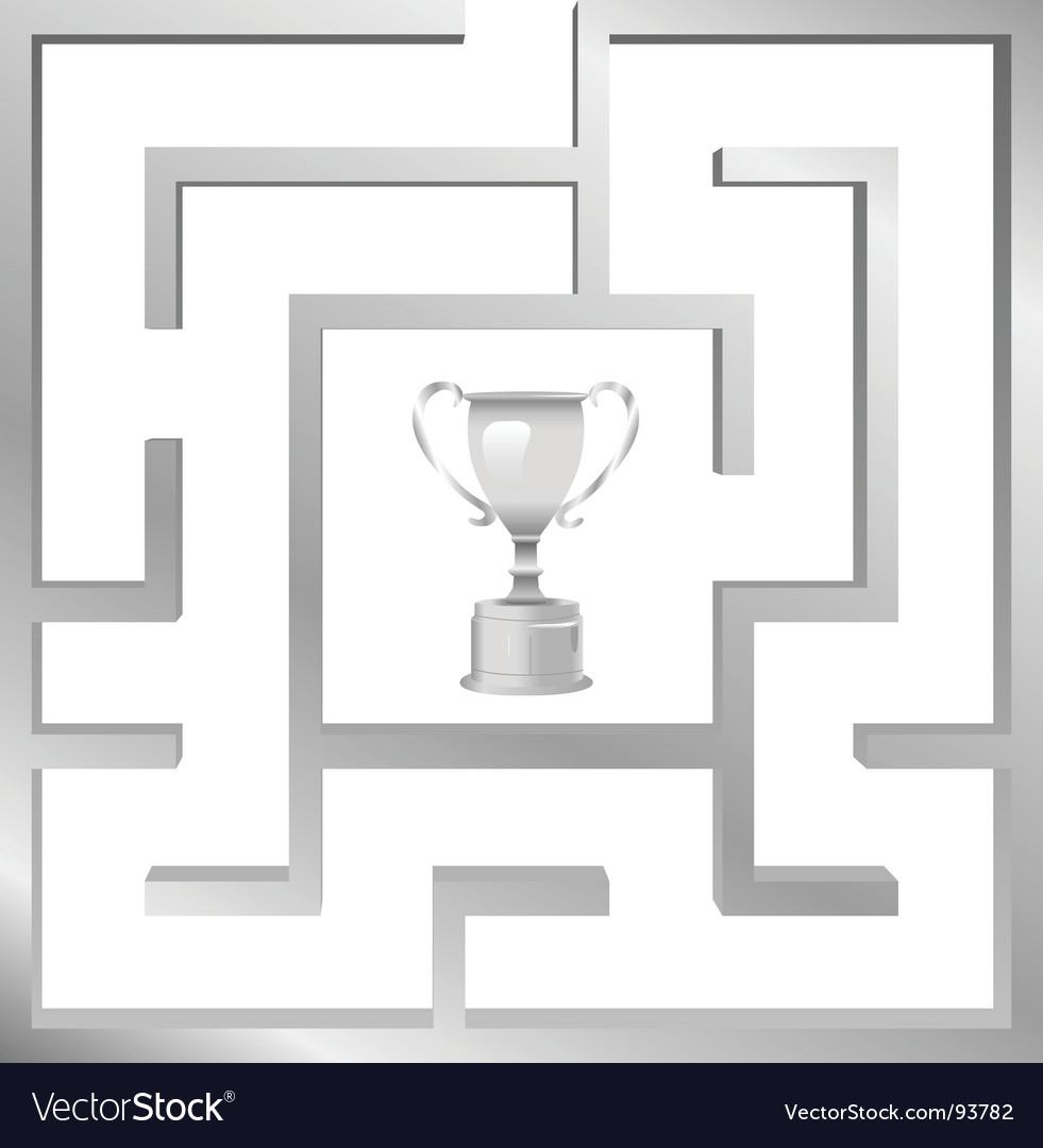 Maze problem vector | Price: 1 Credit (USD $1)