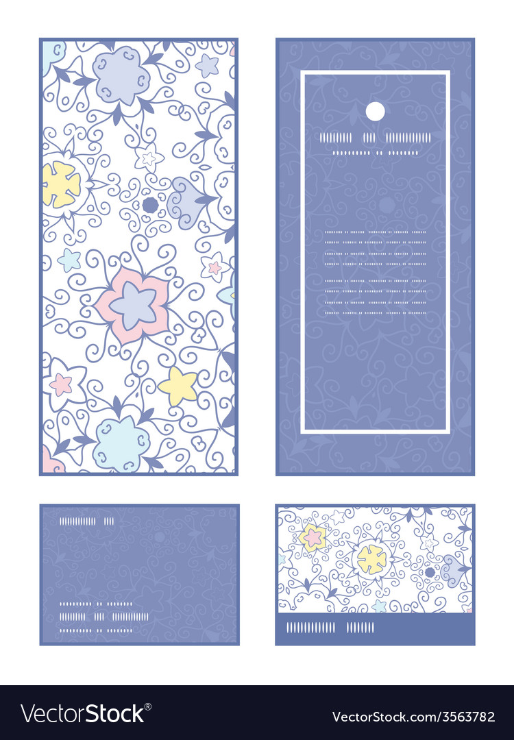 Ornamental abstract swirls vertical frame pattern vector | Price: 1 Credit (USD $1)