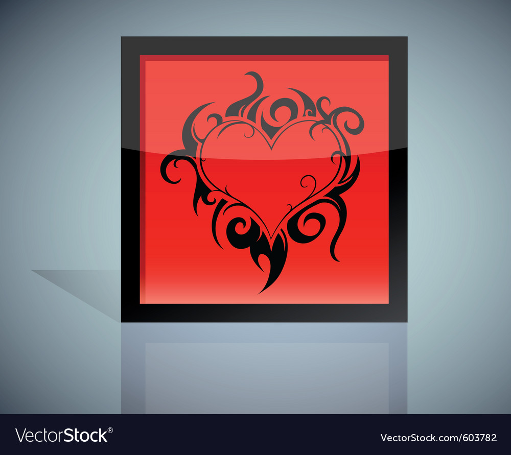 Tattoo heart vector | Price: 1 Credit (USD $1)