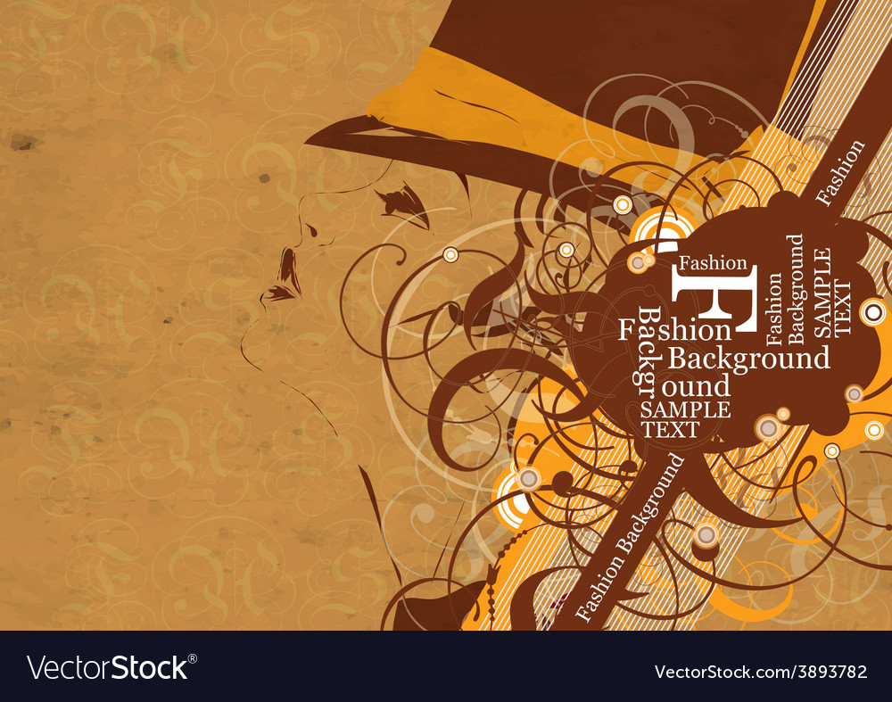 Vintage fashion background vector | Price: 1 Credit (USD $1)