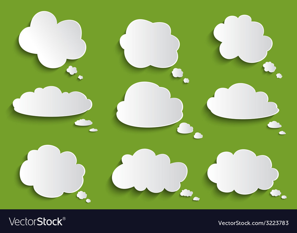 Cloud speech bubble collection vector | Price: 1 Credit (USD $1)
