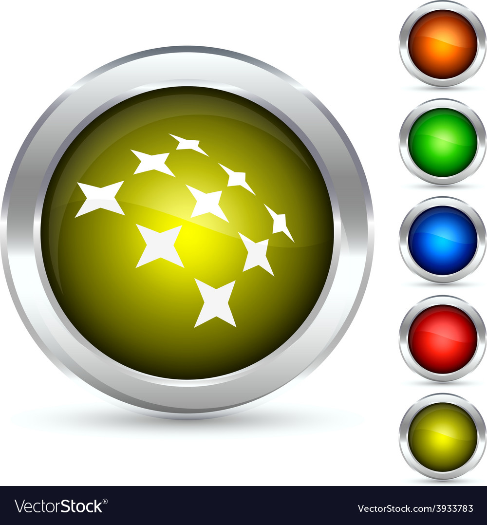 Constellation button vector | Price: 1 Credit (USD $1)