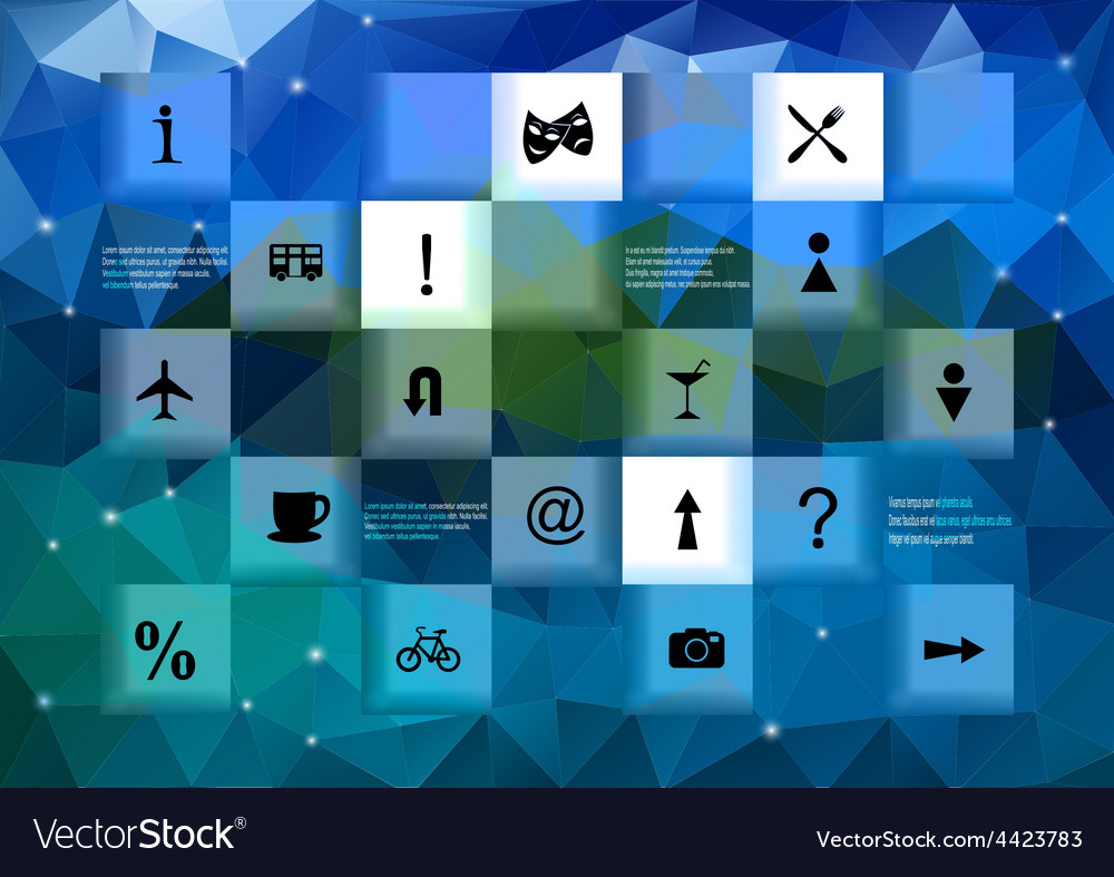 Infographic elements with triangle background vector | Price: 1 Credit (USD $1)