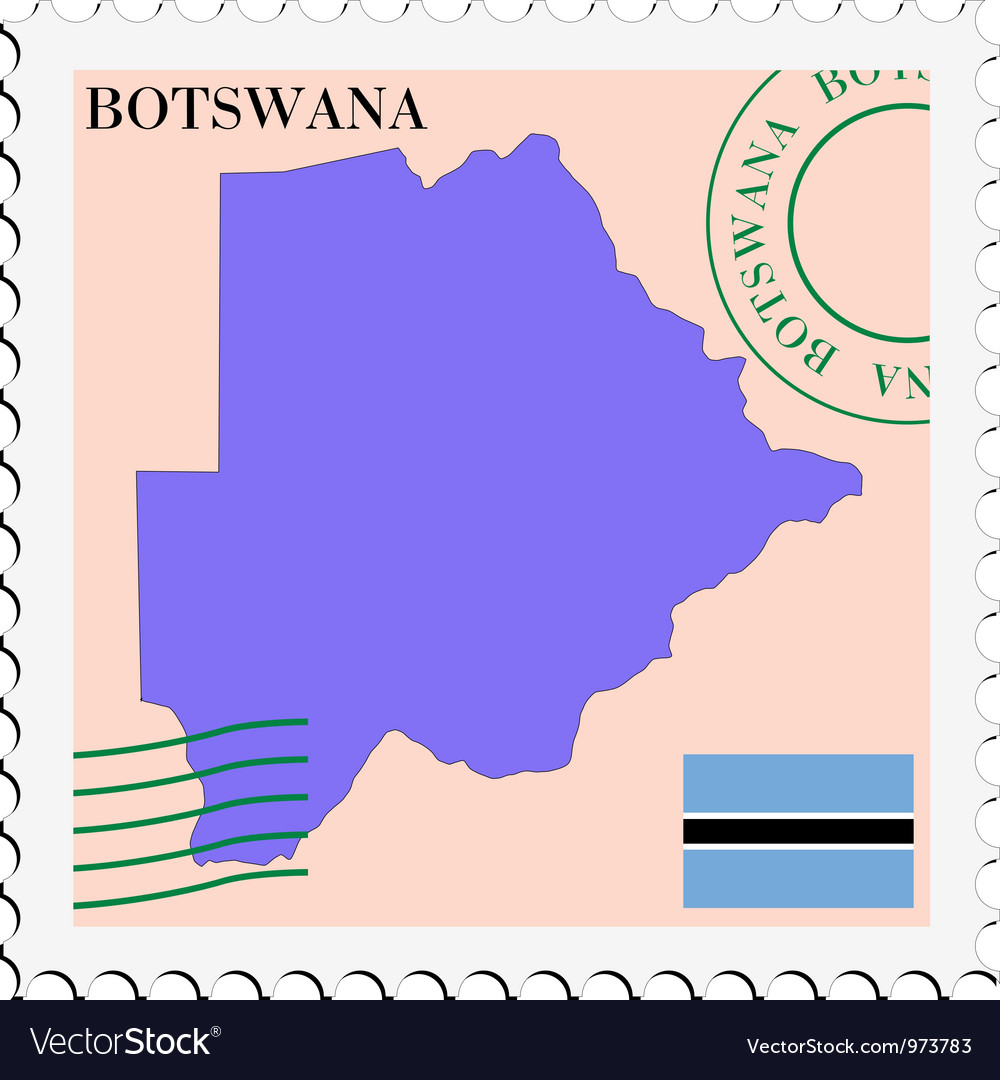 Mail to-from botswana vector | Price: 1 Credit (USD $1)