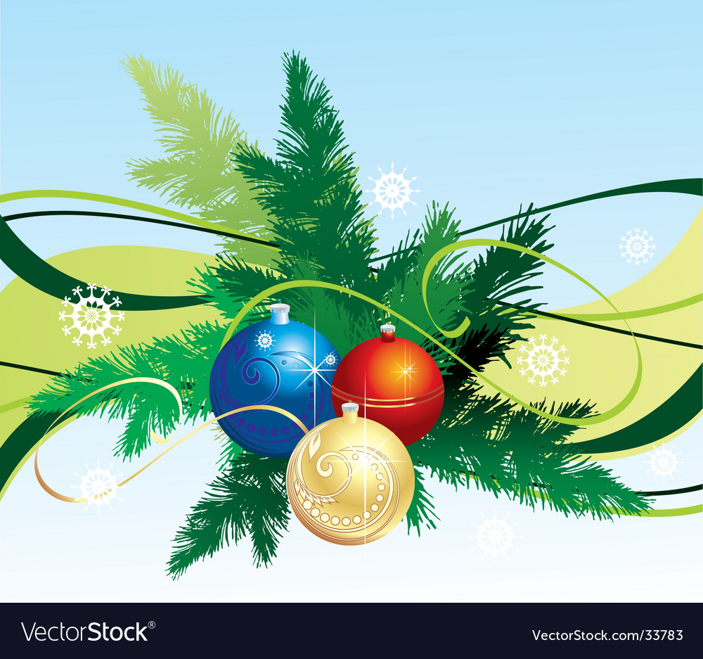 Winter christmas background vector | Price: 1 Credit (USD $1)