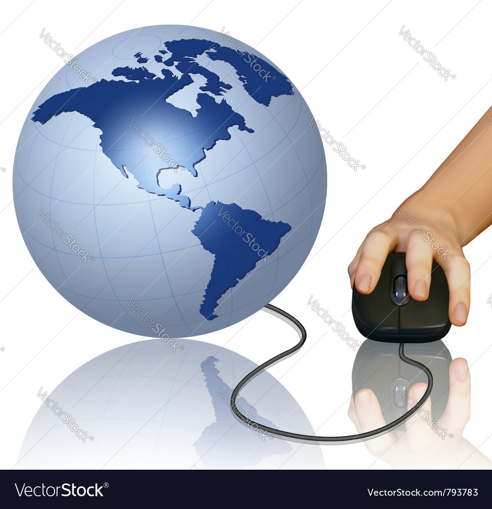 World computer mouse vector | Price: 1 Credit (USD $1)