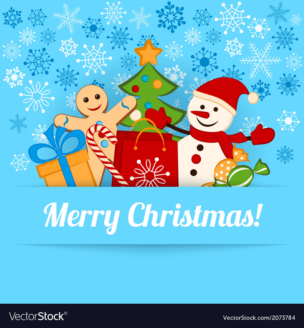 Blue christmas card or background vector   Price: 1 Credit (USD $1)
