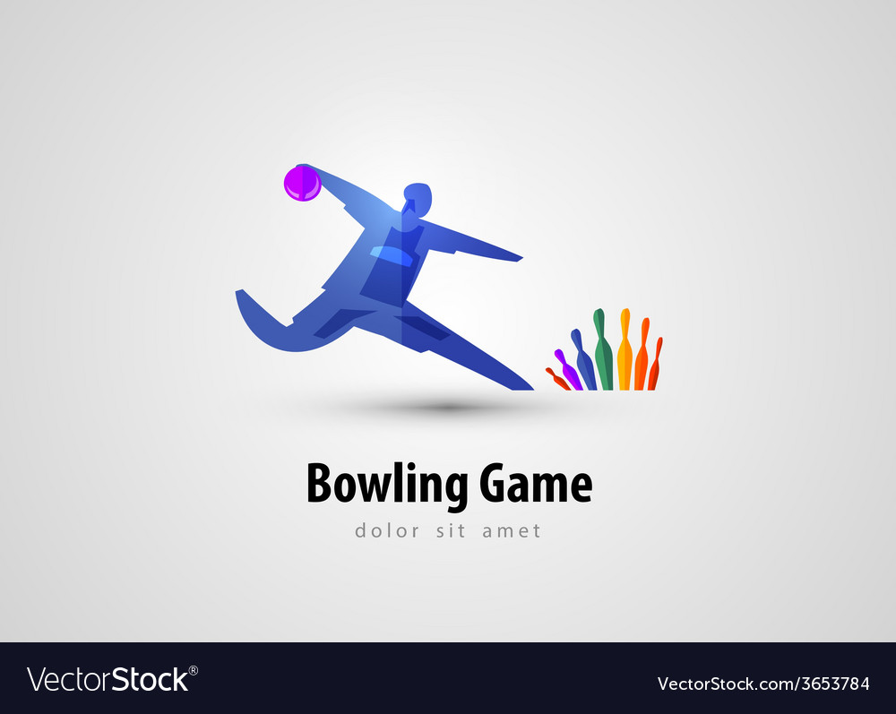 Bowling logo design template game or entertainment vector | Price: 1 Credit (USD $1)