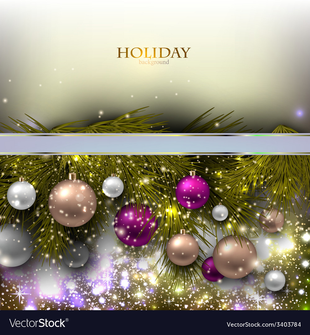 Christmas background with balls colorful xmas vector | Price: 3 Credit (USD $3)