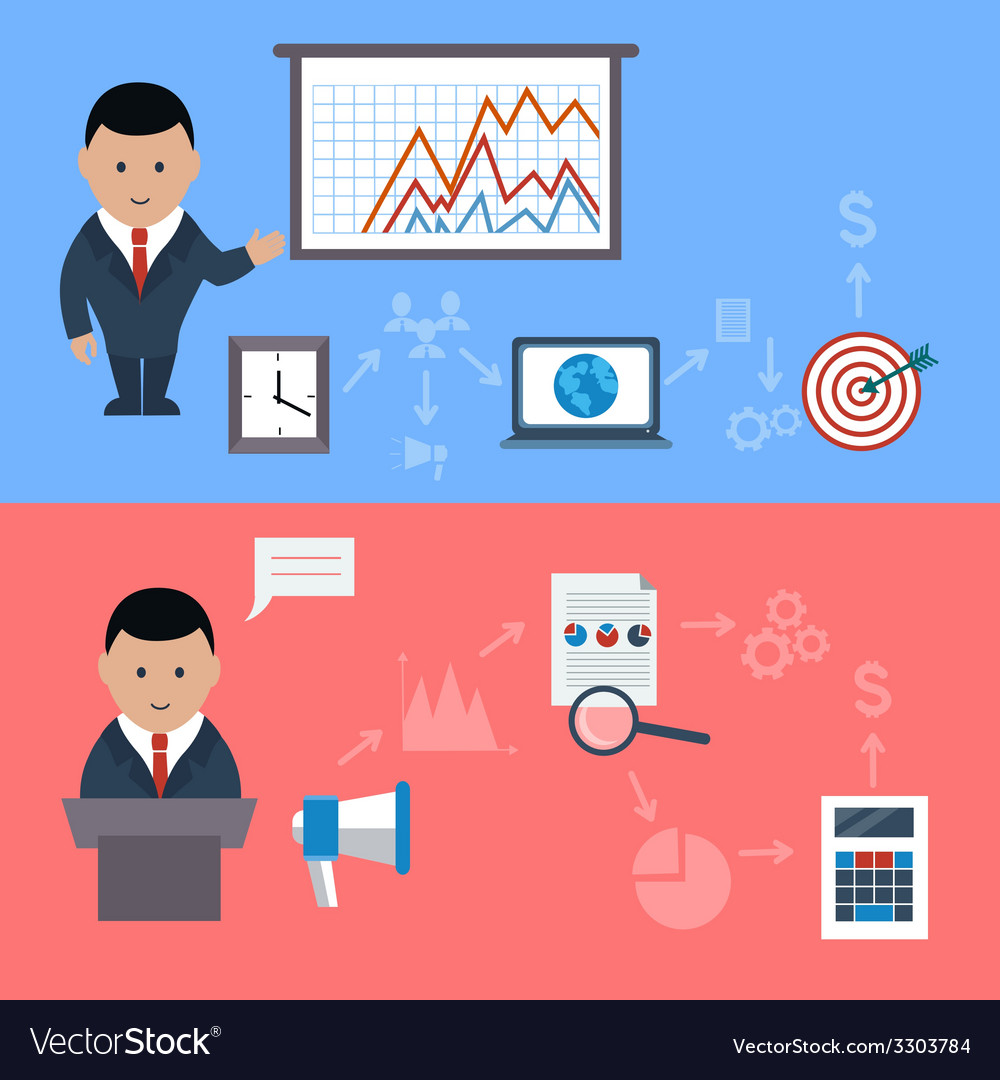 Concept for business meeting and presentation vector | Price: 1 Credit (USD $1)