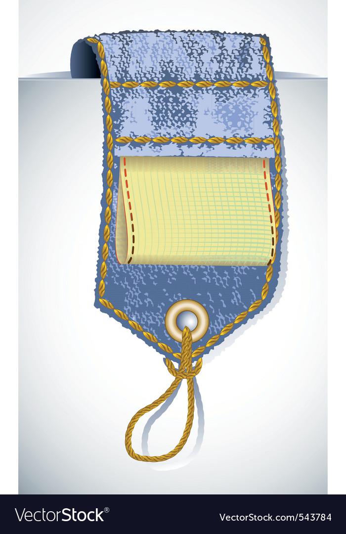 Denim garment tag vector | Price: 1 Credit (USD $1)
